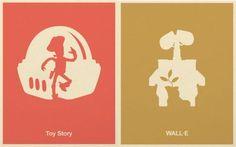 Minimalist Disney Pixar Posters_2 - Randommization