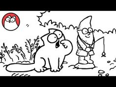 Simon's Cat Makes a Big Stink in the Flower Bed
