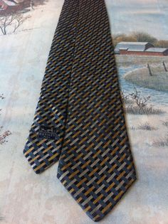 Vintage Hermes Paris handmade necktie made in France by NECKTIE4U