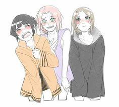 Hinata,Sakura e Rin