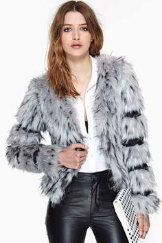 Foxy Faux Fur Coat