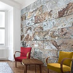 Vliestapete Tapete Steinoptik Marmor   Naturmarmor Steinwand   Fototapete  Quadrat Vlies Tapete Wandtapete Wandbild Foto 3D