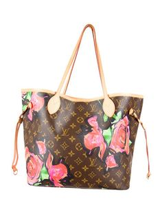$1295 Louis Vuitton Roses Neverfull MM