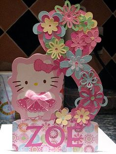 cute with any theme if you don't have hello kitty ... birthday idea make large # & limit flowers