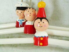 Vintage Figural Wooden Clothes Hangers for by SwirlingOrange11, $40.00