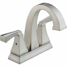 DELTA Dryden Steel-Stainless 2-Handle Bathroom Sink Faucet (Drain Included)