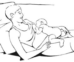 Breastfeeding Positions, including Laid-back Breastfeeding/Biological Nurturing. By La Leche League. This is a great position to try if you are having some latch issues. Laid Back Breastfeeding, Breastfeeding Support, Breastfeeding And Pumping, Nursing Positions, Breastfeeding Positions, Breastfeeding Techniques, Doula, Mommy Workout, Midwifery