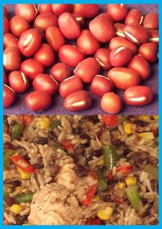 Aduki bean rice Rice Dishes, Beans, Vegetables, Nice, Food, Essen, Vegetable Recipes, Meals, Nice France