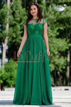Rochii de seara verzi pentru nuntile din 2017 One Shoulder, Satin, Gowns, Formal Dresses, Womens Fashion, Wedding, Vestidos, Dresses For Formal, Valentines Day Weddings