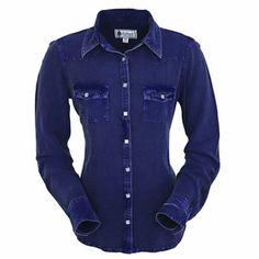 Outback® ladies Dana blouse. Subtle western yokes and eye-catching snaps.  #outback #ladies #dana #blouse #snaps #westernclothes #westernbootsales #pungoridge #ladiesclothes #virginia #virginiabeach