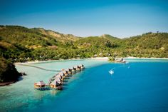 The award-winning #Likuliku lagoon is the only resort across #Fiji's 300 beautiful unspoilt islands to offer over-water #villas. Whilst the view is spectacular from the resort, why not take a daytrip to the #island on the horizon where blockbuster #Castaway was filmed?