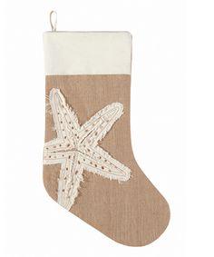 Burlap Starfish Stocking | zulily