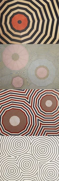 Designs from a beautifully patterned placemat set by Louise Bourgeois. Each…