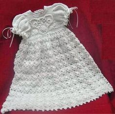Free Crochet Pattern - at  http://www.craftown.com/cropat41.htmristening Dress