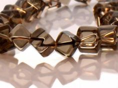 Smoky Quartz Beads 10mm Smooth Cube AAA by JewelryQuestDesign, $9.99