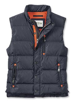 Keep warm and comfortable in our men's classic nylon down vest. Perfect over a sweater or as a layer, you'll be able to keep the chill out no matter the weather.