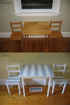 kids table + chairs makeover  {Cozy.Cottage.Cute blog}