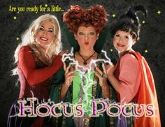 Hocus Pocus Halloween invitations.  We dressed up as the Sanderson Sisters for our Annual Halloween Bash Invitations. Sarah was the most authentic made by Time After Time Designs.com My Aunt and Mother made the others and I did the other two wigs and all the makeup.  www.maryrc.com  Photographer was www.brianbrownphotography.com