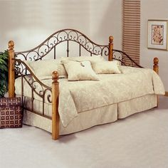 Lowest price online on all Hillsdale San Marco Wood and Metal Post Daybed with Trundle - 138DBLHTR