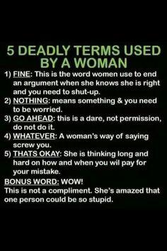 Hilarious shit women do & say