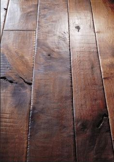 Walnut plank floor from Birger Juell the hand sculpted plank flooring is part of Wood floors wide plank - wood Color Floor How To Choose Walnut plank floor from Birger Juell the hand sculpted plank flooring Flooring Options, Flooring Ideas, Modern Flooring, Parquet Flooring, Linoleum Flooring, Timber Flooring, Vinyl Flooring, Wood Planks, Vinyl Planks
