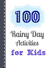 After signing up for the newsletter, you'll be sent a link to a free printable list of 100 Rainy Day Activities for Kids.