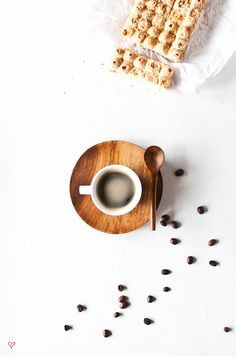 Hand crafted plate and spoon with ceramic cup (espresso set). I Love Coffee, Coffee Break, My Coffee, Morning Coffee, Starbucks Coffee, Coffee Cafe, Coffee Drinks, Nitro Coffee, Espresso Cups