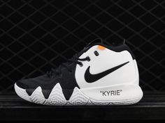 Real Off-White x Nike Kyrie 4 White Black - Mysecretshoes Black And White  Shoes 21a80f793