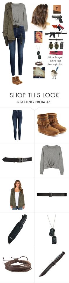 """""""The Walking Dead Season 7 Episode 16 """"The First Day of the Rest of Your Life"""""""" by mollyr5 ❤ liked on Polyvore featuring H&M, Minnetonka, Barneys New York, MANGO, Velvet by Graham & Spencer, 5.11 Tactical, Zodaca, me you and GAS Jeans"""