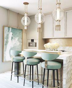 The Best Luxury Dream Kitchen Design Ideas - ideahomy Home Decor Kitchen, Interior Design Kitchen, New Kitchen, Home Kitchens, Kitchen Island, Küchen Design, Home Design, Design Ideas, Design Projects