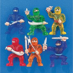 Ninja Warriors - OrientalTrading.com  Blue and Gold Carnival Prizes