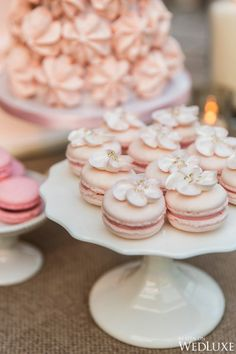 Macarons | Bobbette & Belle | Breezy, Private Island Wedding in Muskoka | WedLuxe Magazine