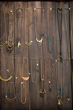 Jewelry from the collection of Marisa Haskell as seen in her Temescal Alley store. Love these!!!! #Jewelry #jewelrynecklaces