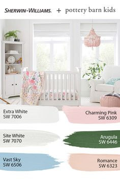 If your nursery is in need of a colorful makeover, these Sherwin-Williams paint colors are for you. Tap this pin to explore the entire @potterybarnkids Spring/Summer 2020 palette and get your DIY painting project started today. #sherwinwilliams #potterybarn #potterybarnkids #pbkids #nursery #decor #design #paintinspo #diy Pottery Barn Nursery, Pottery Barn Kids, Golden Girls, Behr, Nursery Paint Colors, Pantone, Nursery Paintings, Kids Room Organization, Nursery Inspiration