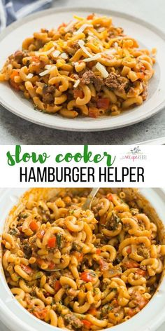 A healthier, homemade version of Hamburger Helper made completely in the slow cooker — yes, even the pasta! (And no, it's not mushy and overcooked!) Packed with sneaky veggies.  #slowcooker #crockpot #groundbeef #beef #recipe #dinner #pasta slow cooker meal | slow cooker recipe | crockpot meal | crockpot recipe | ground beef