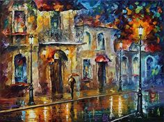 Inspiration Of Beauty - Palette Knife Oil Painting On Canvas By Leonid Afremov Print By Leonid Afremov