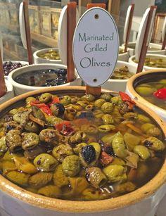 Marinated Grilled Olives — at Joe Leone's Italian Specialties.