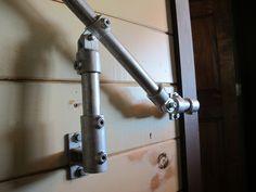 DIY pipe fitting handrail