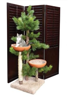 Cool Cat Tree Plans: Cat Tree Furniture With Leaves
