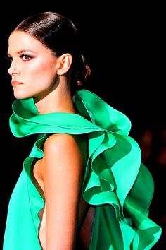 All about #emerald -  #Gucci S/S 2013