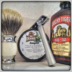 July 20th 2016 - Shave of the day #Agioco #A2BS safety razor ( HK ) #Treet carbon steel blade a.k.a. Black Beauty ( PAK ) #TikiBarSoap #Fougere #shavingsoap ( USA ) #LuckyTiger aftershave ( USA ) #silvertip #badger shaving brush ( CHN ) #shavelikeaman #shaveoftheday #shavingculture #thebigshave #sotd #classicshave #derazor #vintageshave #wetshaving #worldshave #safetyrazor #instashave #italianwetshavers #rasaturatradizionale @ilrasoio
