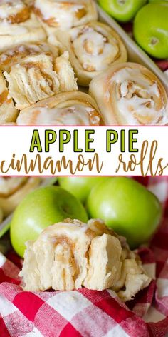 Apple Pie Cinnamon Rolls are a sweet treat that is full of fall flavors! Homemade bread dough with an apple pie filling, baked to perfection and covered with vanilla glaze. Absolutely delicious for brunch or dessert! Apple Recipes, Baking Recipes, Sweet Recipes, Quick Apple Pie Recipe, Homemade Apple Pie Filling, Apple Cinnamon Rolls, Homemade Cinnamon Rolls, Pie Crust Cinnamon Rolls, Bread Machine Cinnamon Rolls