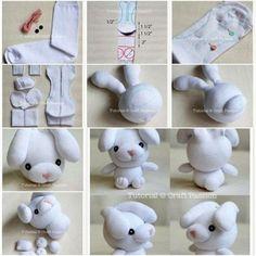 10 простых игрушек из носков с МК