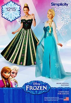 Elsa Costume Pattern Anna Costume Pattern Adult Frozen by blue510