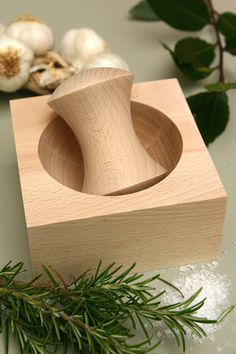 Pure Wood Pestle and Mortar