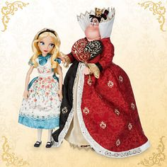 Alice and The Queen of Hearts Doll Set - Alice in Wonderland - Disney Fairytale Designer Collection