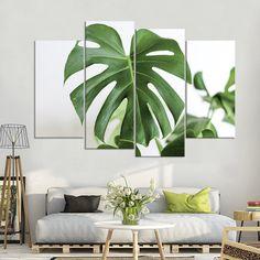 Beautiful Monstera Leaf Multi Panel Canvas Wall Art In 2020 Nursery Canvas, Canvas Wall Art, Wall Art Prints, Canvas Poster, Poster Wall, Poster Prints, Canvas Prints, Photo Wall Design, Photo Wall Art