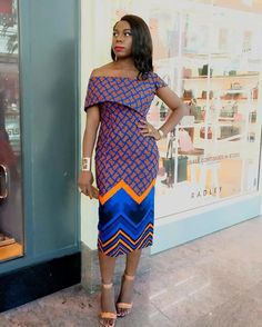 Beautiful Ankara Street Styles To Glam Up Your Looks - Afro Fahionista African Dresses For Women, African Print Dresses, African Attire, African Wear, African Fashion Dresses, African Style, African Outfits, Ghanaian Fashion, African Clothes