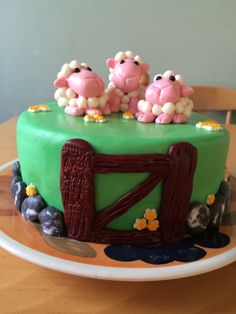 Sheep birthday cake..... Latest cake!!!