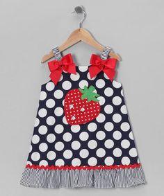 Vestidos de niñas con apliques Ideas fresa
